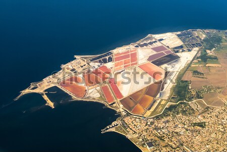 aerial of Salines in France with oil tanks  Stock photo © meinzahn