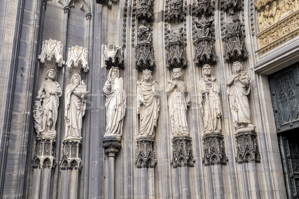 Cologne, Germany, the medieval portal, main entrance of the Dome Stock photo © meinzahn