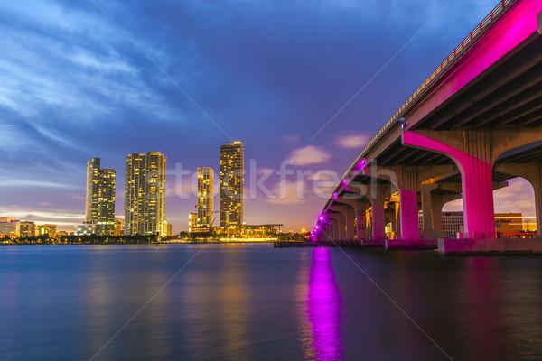 Miami panorama urbana grattacieli Foto d'archivio © meinzahn
