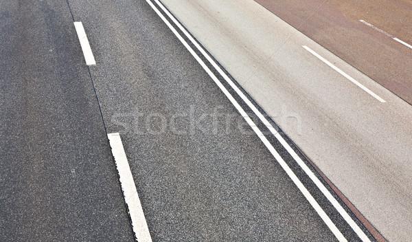 Aszfalt út textúra autópálya fekete beton Stock fotó © meinzahn