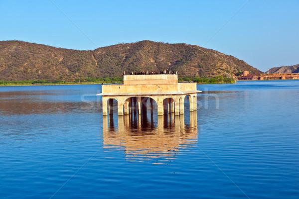 Water Palace Jal Maha) in Man Sagar Lake. Jaipur Stock photo © meinzahn