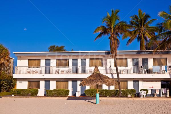 Praia ensolarado Miami de manhã cedo belo Foto stock © meinzahn