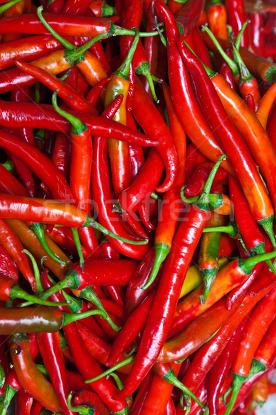 fresh chili pepper in different colors at the herb market in Ban Stock photo © meinzahn