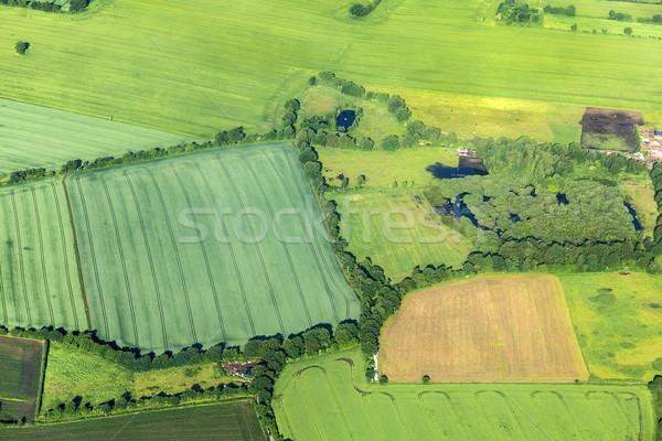 aerial of rural landscape near Hamburg Stock photo © meinzahn