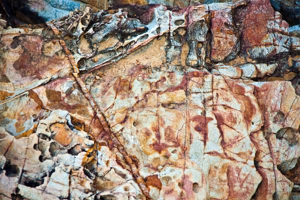 Schönen Zeilen Steine Eindruck Natur Hintergrund Stock foto © meinzahn