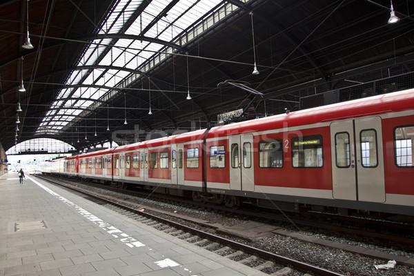 Vasaló vasútállomás bent vonat város építkezés Stock fotó © meinzahn