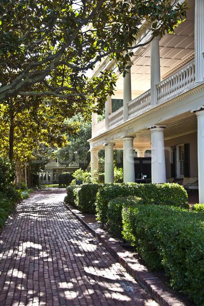 typical victorian urban house in Charleston Stock photo © meinzahn