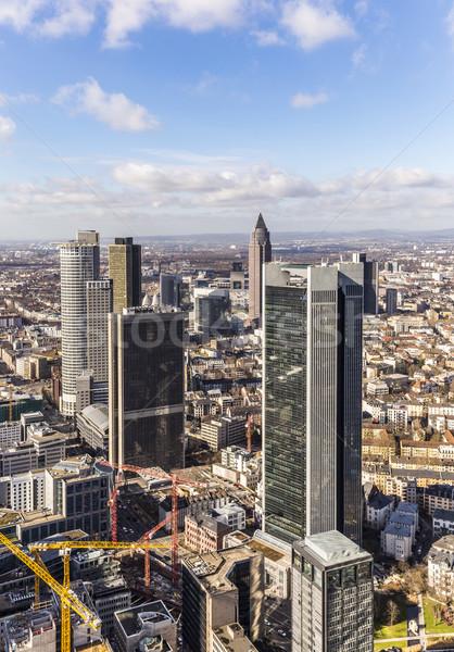 Légi pénzügyi negyed Frankfurt panoráma Németország üzlet Stock fotó © meinzahn