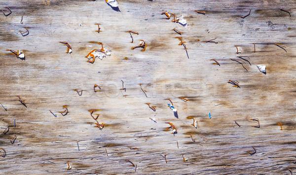 Rot houten muur oude Stockfoto © meinzahn