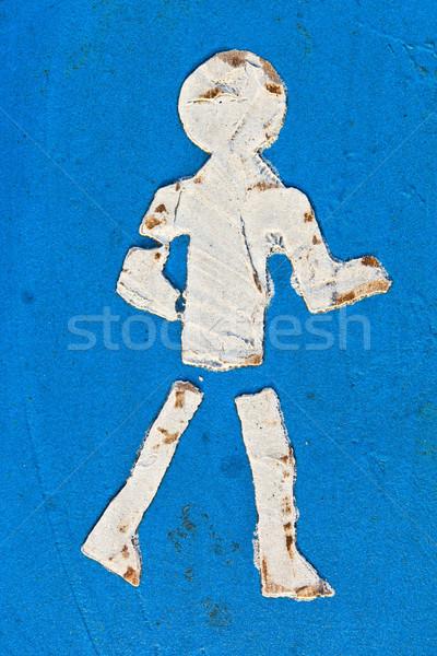 Stockfoto: Symbool · icon · asfalt · teken