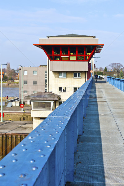 watergate griesheim at river Main Stock photo © meinzahn
