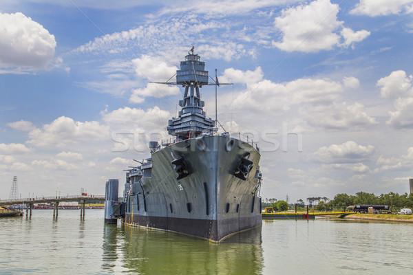 Famoso encouraçado Texas metal barco navio Foto stock © meinzahn