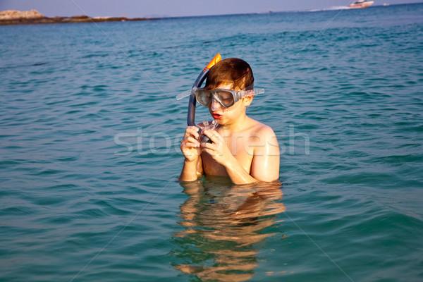 Okyanus ayakta güzel deniz Stok fotoğraf © meinzahn