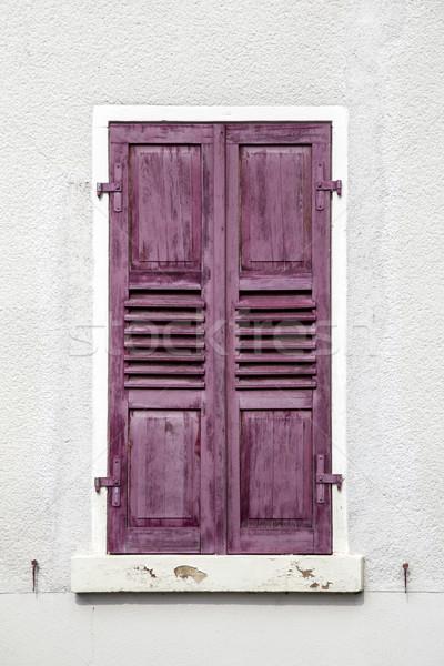 Oude houten venster rot huis Stockfoto © meinzahn