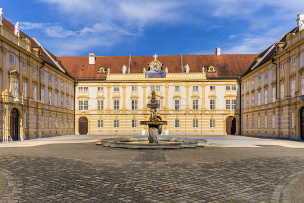 Courtyard of the historic Melk Abbey, Austria Stock photo © meinzahn