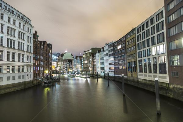 старые исторический зданий Гамбург Германия город Сток-фото © meinzahn