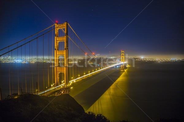 Golden Gate Bridge sera luce notte view noto Foto d'archivio © meinzahn