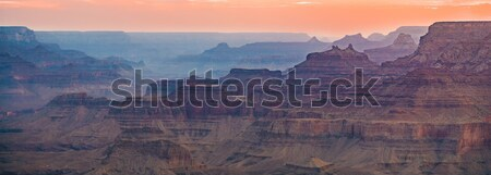 Tramonto view deserto punto canyon meridionale Foto d'archivio © meinzahn