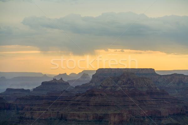 日没 峡谷 砂漠 表示 ポイント 南 ストックフォト © meinzahn