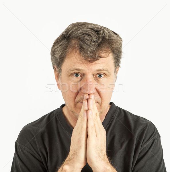 Portrait homme douleur pense visage beauté Photo stock © meinzahn