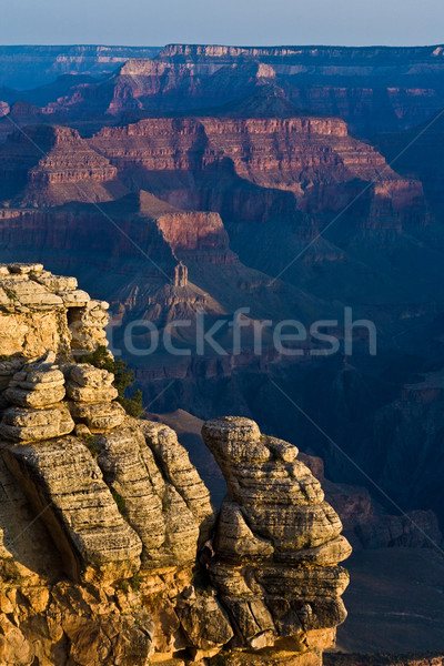 colorful Sunrise seen from Mathers Point at the Grand Canyon Stock photo © meinzahn