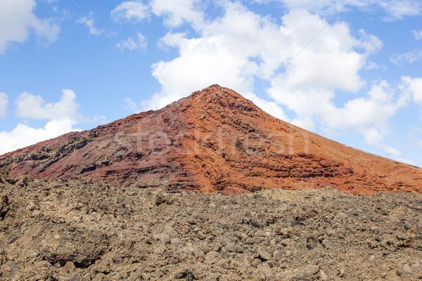 Stock fotó: Vulkán · park · Spanyolország · felhők · természet · tájkép