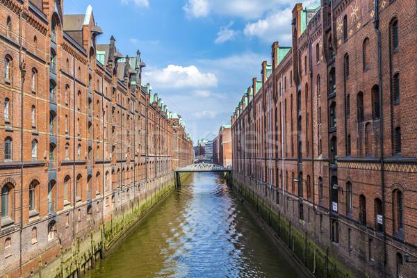 Warehouses in Speicherstadt in Hamburg, Germany  Stock photo © meinzahn