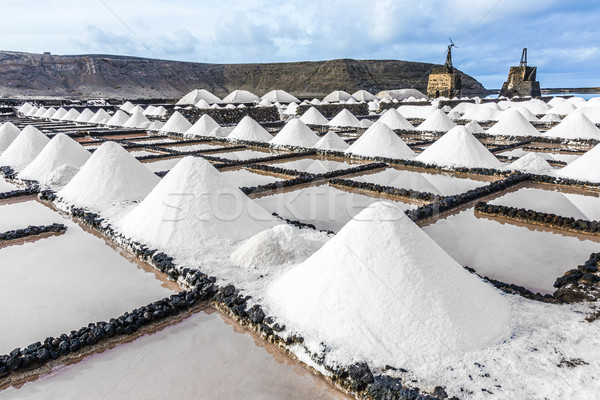 salt piles in the saline of Janubio  Stock photo © meinzahn