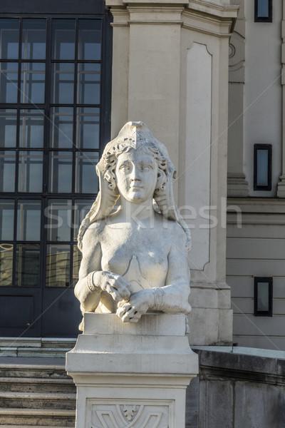 Sphinx sculpture at Belvedere Palace in summer, Vienna Stock photo © meinzahn