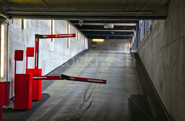 Parking route bâtiment ville mur sécurité Photo stock © meinzahn
