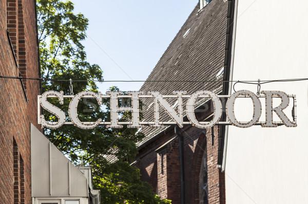 знак квартал старые улице лет городского Сток-фото © meinzahn