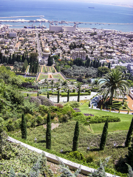 Bahai gardens and temple on the slopes of the Carmel Mountain Stock photo © meinzahn