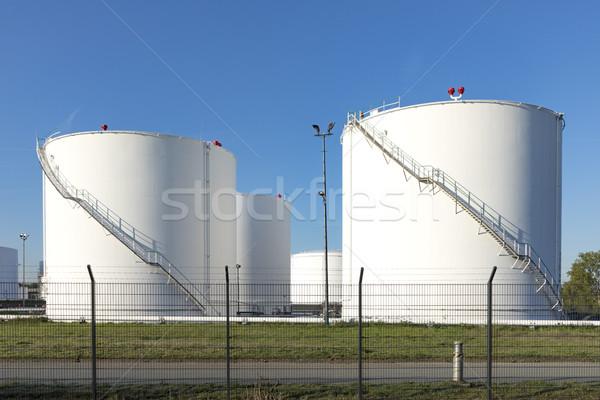 many huge white silos Stock photo © meinzahn