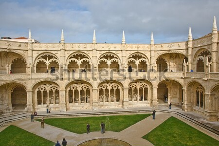 monastery Jeronimos in Belem, near Lisbon, famous monastery in P Stock photo © meinzahn