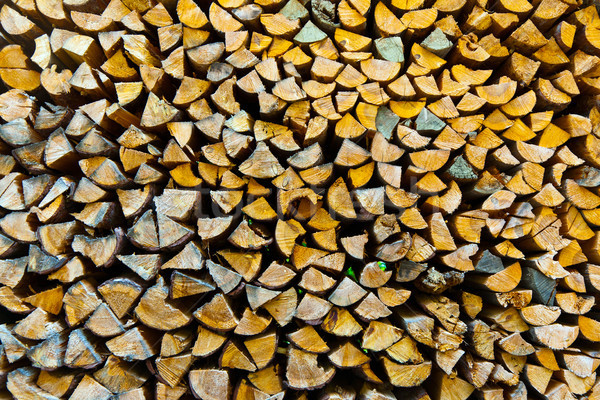 Stock fotó: Tűzifa · kívül · kert · háttér · energia · minta