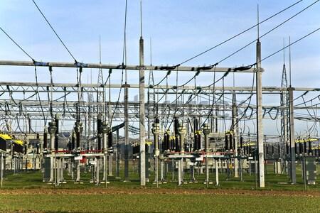 electrical power plant in farmland area Stock photo © meinzahn