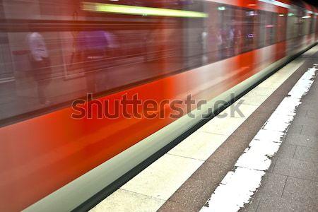 Ondergrondse trein beweging Europa stad werk Stockfoto © meinzahn