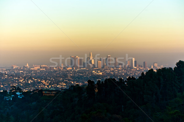 sunset in Los Angeles seen from Griffith Park Stock photo © meinzahn