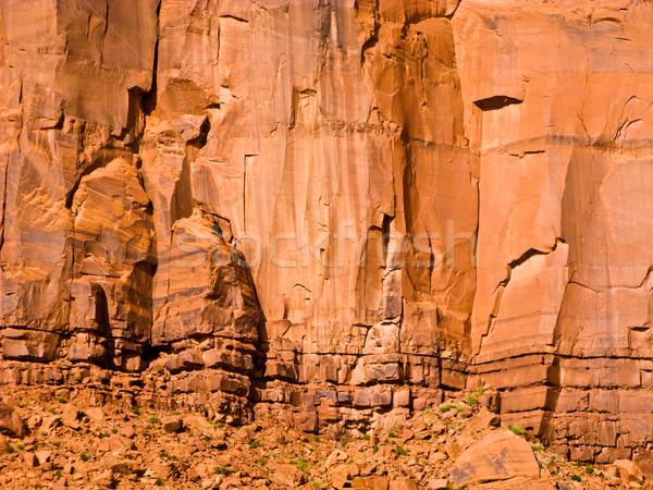Dev kumtaşı oluşum vadi detay harmonik Stok fotoğraf © meinzahn