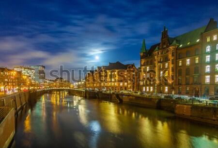 1泊 ハンブルク 歴史的 抽象的な 月 星 ストックフォト © meinzahn