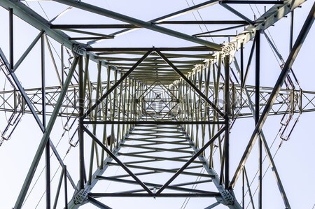 высокое напряжение башни небе аннотация свет технологий Сток-фото © meinzahn