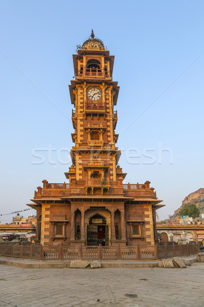 famous victorian clock tower in Jodhpur Stock photo © meinzahn