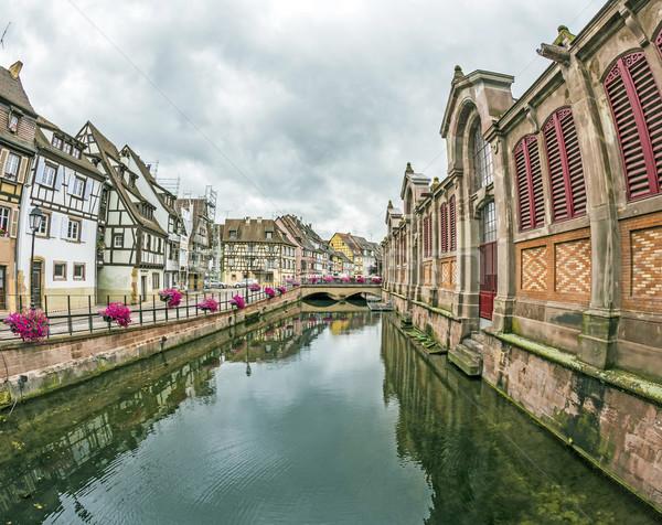 canal in Little Venice in Colmar, France Stock photo © meinzahn