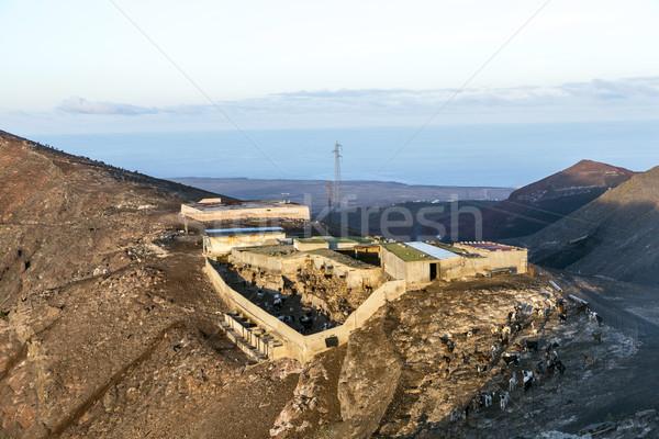 Cabras montanas queso diario paisaje Foto stock © meinzahn