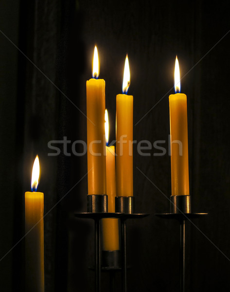 Candles burning in a  room  Stock photo © meinzahn