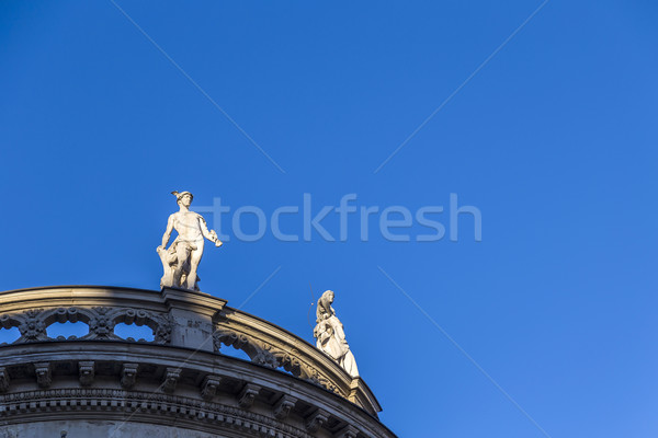 sandstone statues at the roof of an old building at Max Josephs  Stock photo © meinzahn