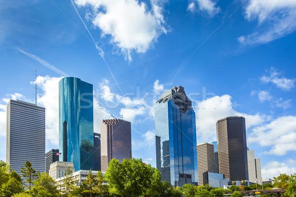Sziluett Houston Texas nappal iroda város Stock fotó © meinzahn