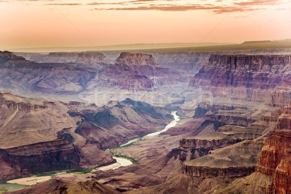 日の出 グランドキャニオン 砂漠 表示 ポイント ストックフォト © meinzahn