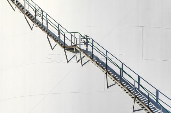 detail of huge white silo Stock photo © meinzahn