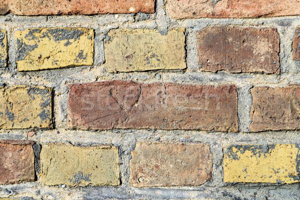 Harmonisch patroon muur structuur muur Rood Stockfoto © meinzahn